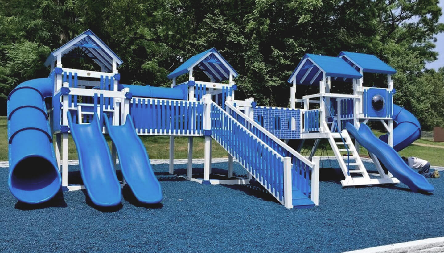 Blue playset structures